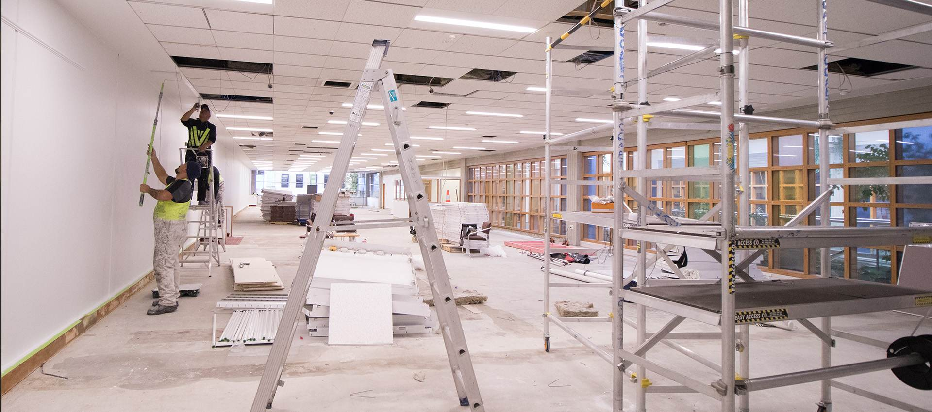 A commercial fitout in process.