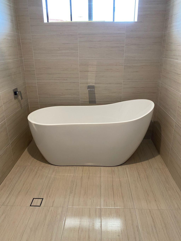 Bathroom renovation complete.