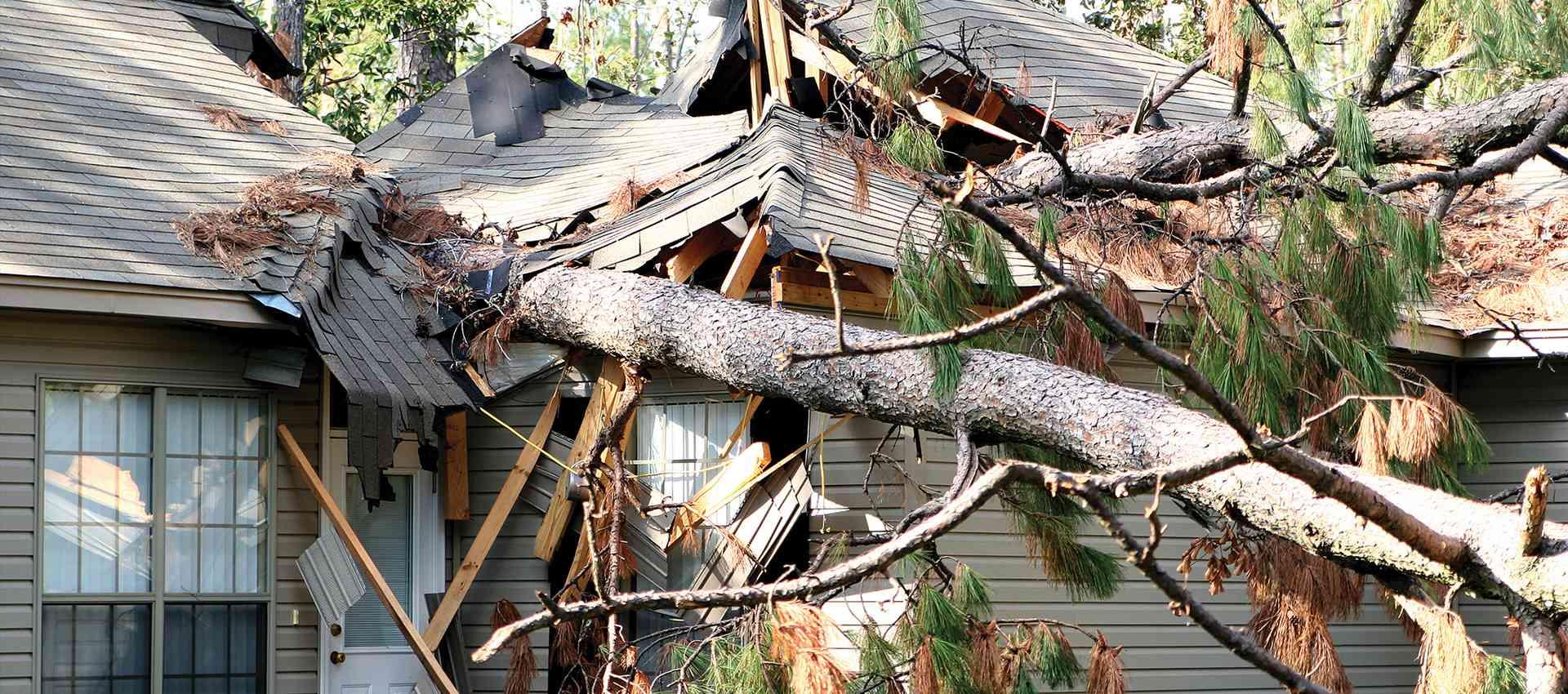 Damagfe requiring an insurance repair.