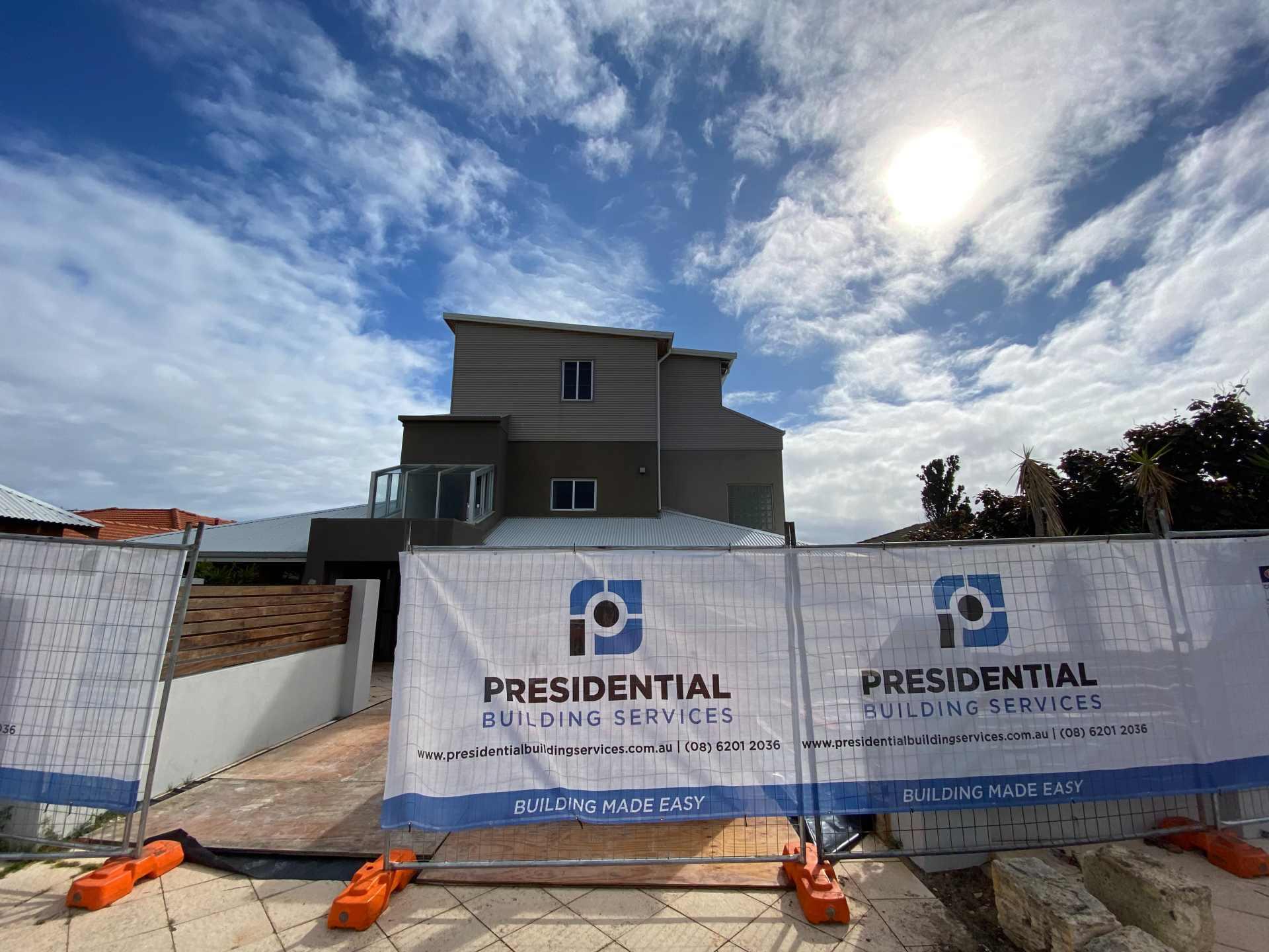 Three-storey home renovation.