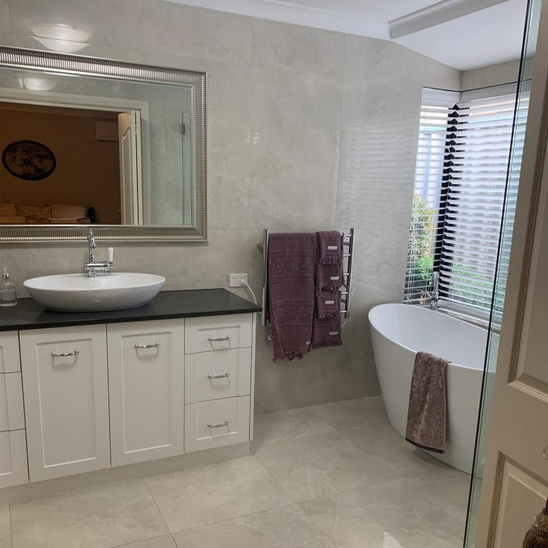 Bathroom renovation completed in Karrtha, Western Australia.