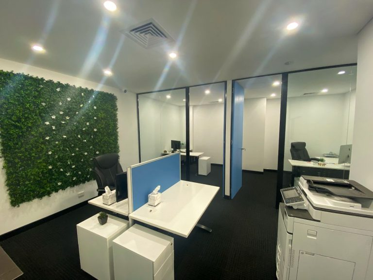 Open plan office area.