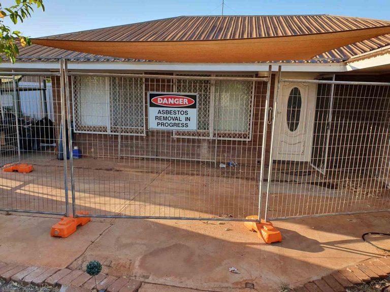 Asbestos removal in progress in Perth.