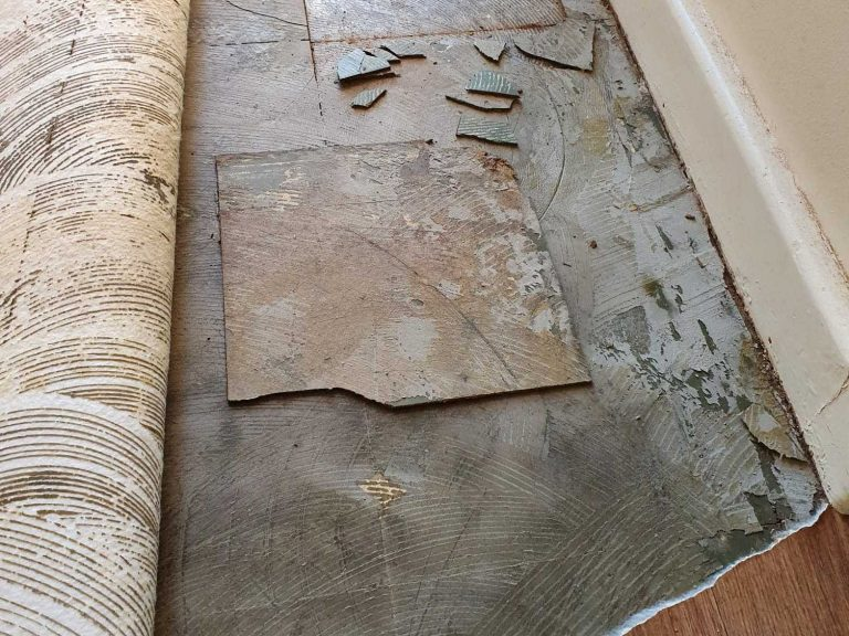 Example of asbestos tiles.