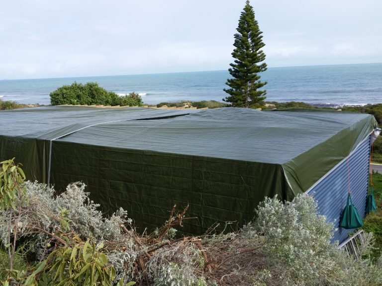 Roof tarping in Perth's south.