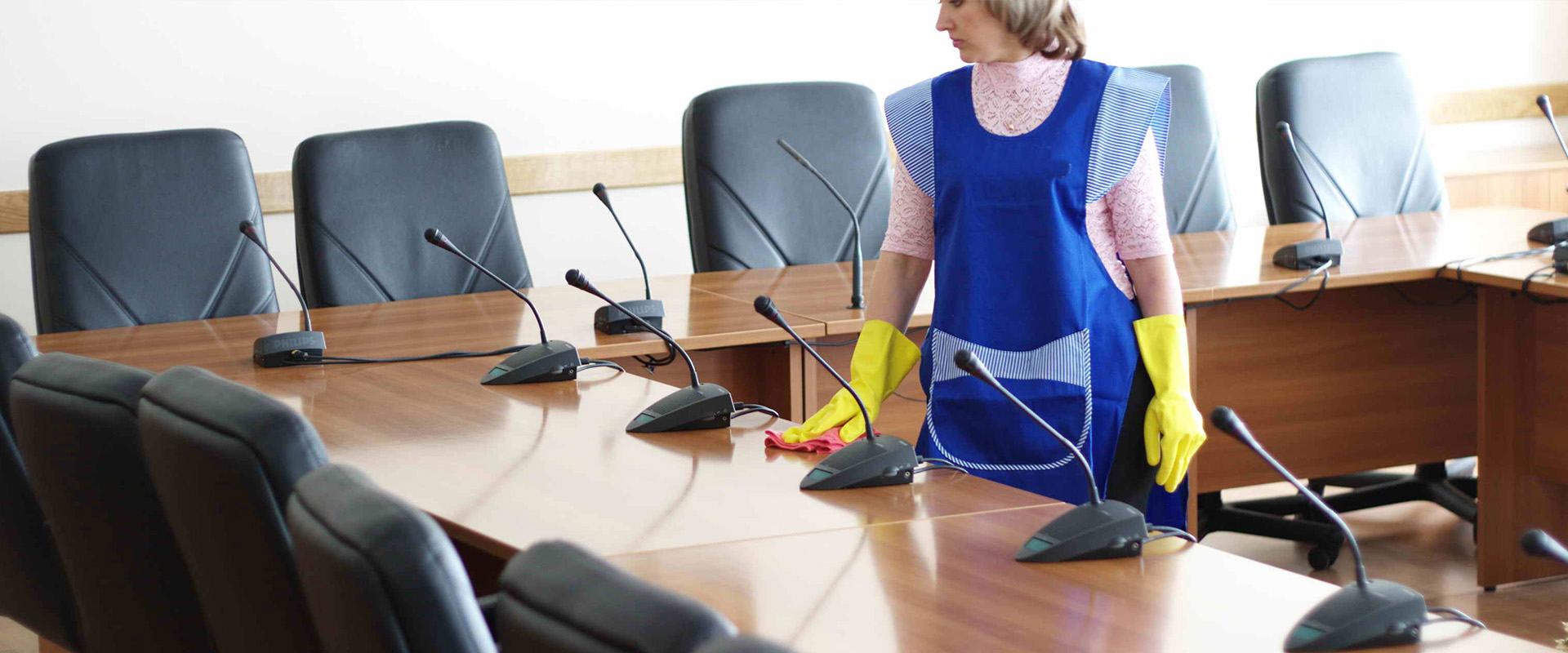 Commercial office cleaning.