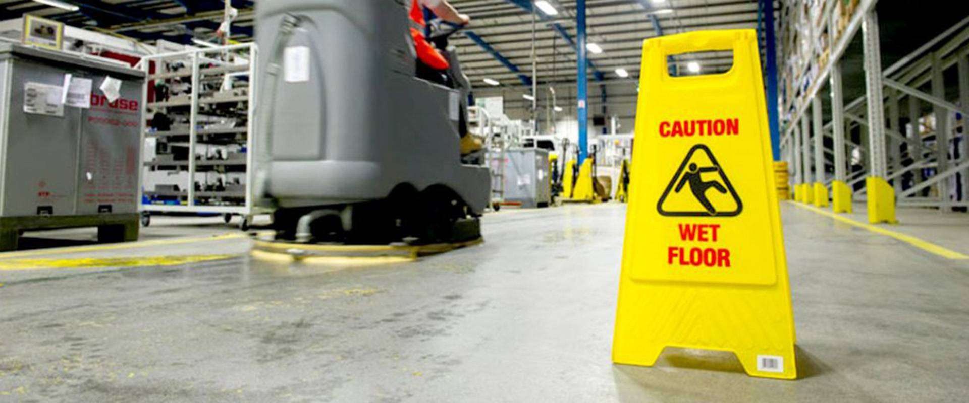 Commercial cleaning for industrial facilities.