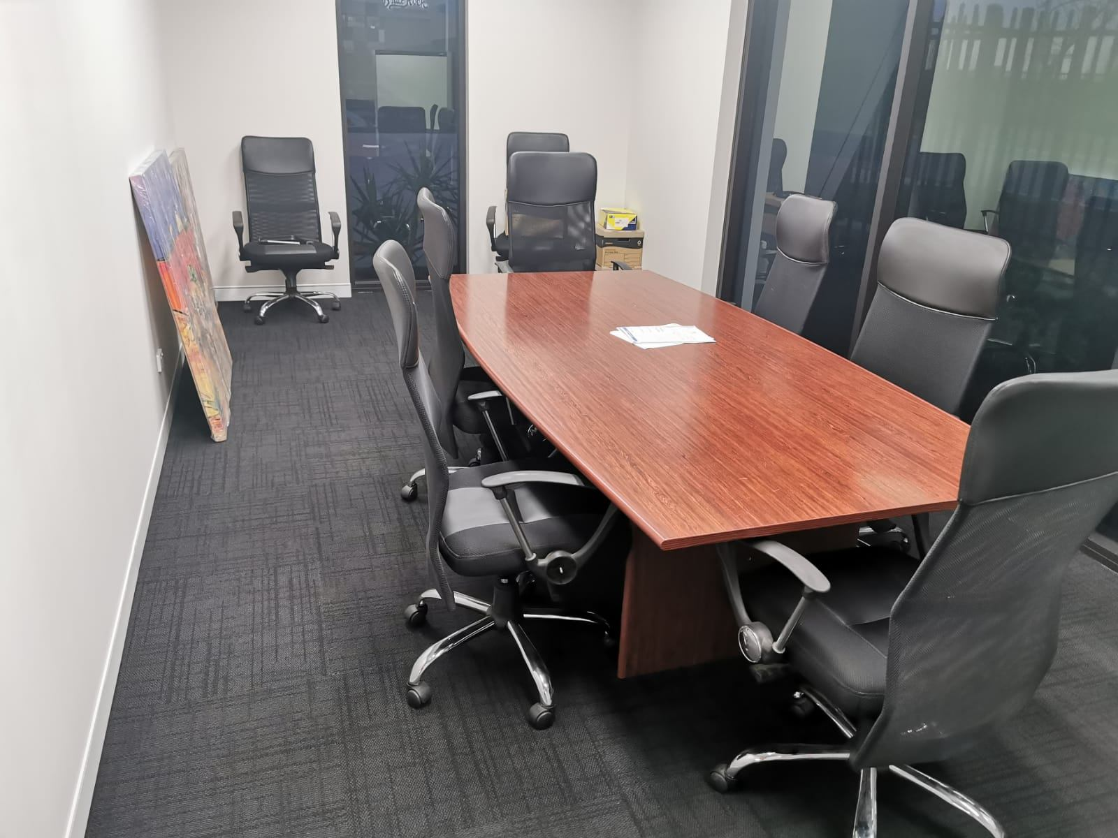 Completely cleaned office ready for a new day.